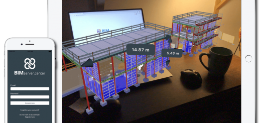 Ferramenta de medição de modelos de realidade aumentada. BIMserver.center AR.