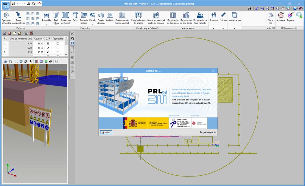 """""""PRL en BIM""""  developed by """"Fundación Laboral de la Construcción"""""""