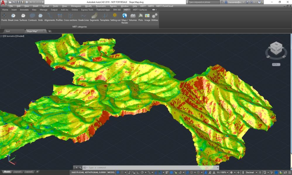 TcpMDT 8 Standard: The standard version allows you to model a terrain using points measured by any total station or GPS, generate contours, derive longitudinal and transversal profiles, calculate volumes and visualise the terrain in 3D. It also has functions to work with plots and multiple additional utilities.