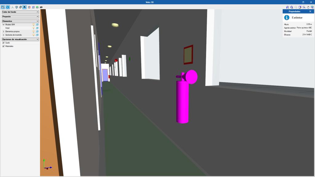 Información existente en el modelo 3D de CYPEFIRE CTE