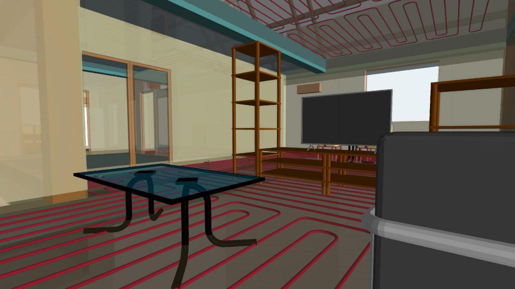 La sincronización de CYPE Uponor con BIMserver.center permite ver de una forma integrada diferentes áreas del proyecto: la estructura, el mobiliario, los sanitarios o el resto de instalaciones.