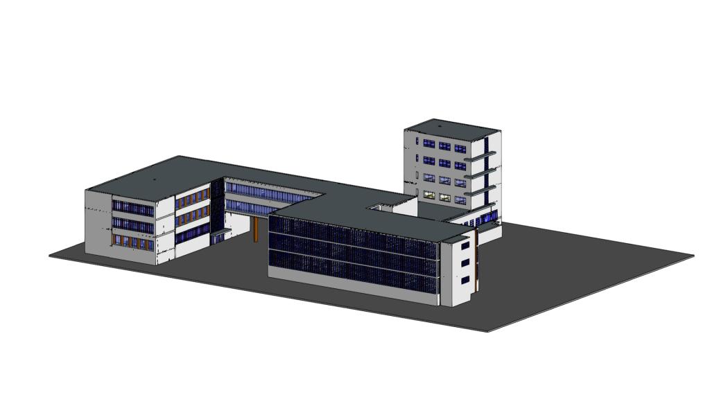 Modelo arquitetônico tridimensional